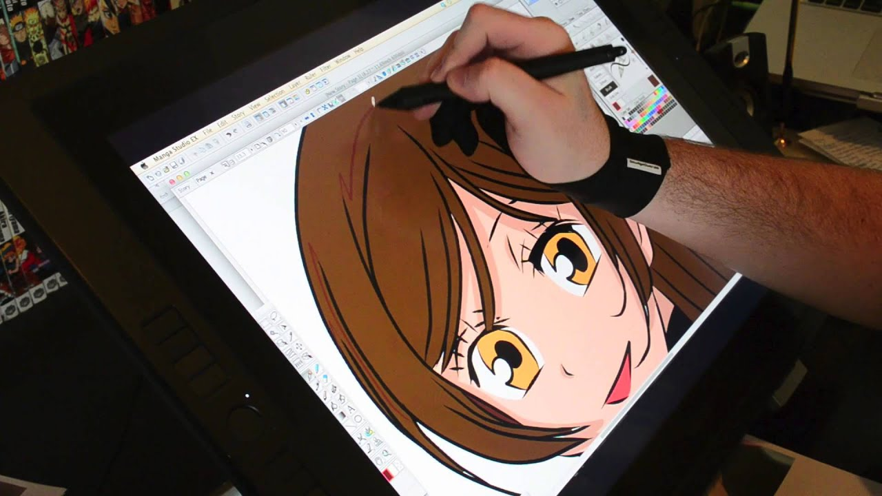 Wacom Cintiq Drawings on The Wacom Cintiq 21ux