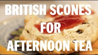 British scones for afternoon tea
