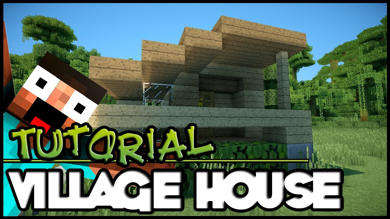 Minecraft tutorial hd simple village house youtube for Simple village house design picture