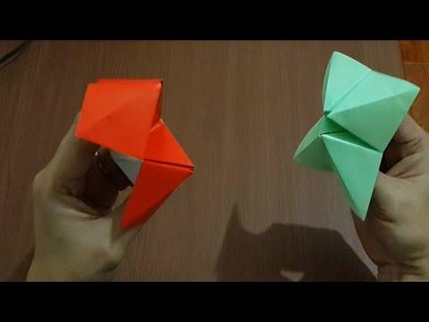 Cara Membuat Origami Mulut Berbicara - Sangat Mudah Sekali
