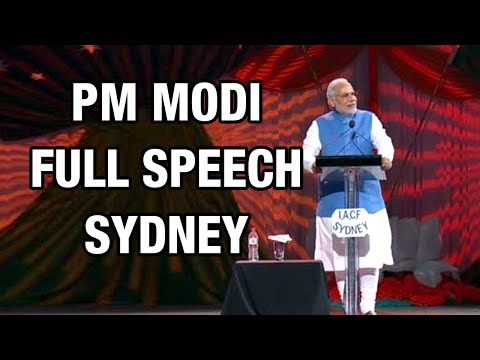 PM Modi addresses Indians at Allphones Arena in Sydney, Australia - Full Speech