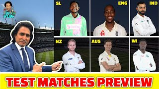 India Vs Windies, England Vs Australia, NewZealand Vs Srilanka | Test Matches Preview