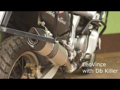Honda XRV750 Africa Twin new exhaust LeoVince