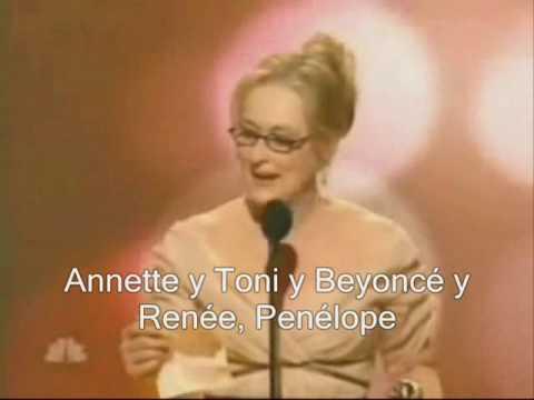 Meryl Streep Golden Globe por el diablo viste a la moda 2007 - subtitulado