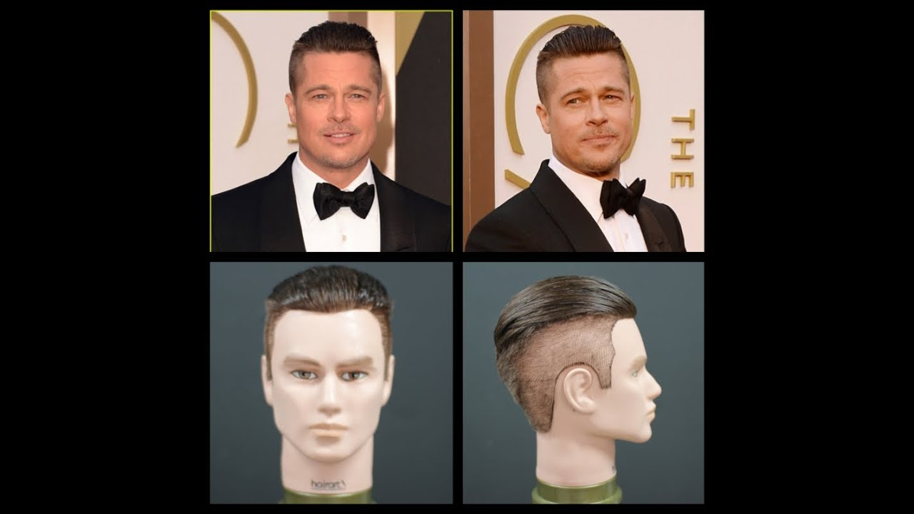 Hairstyle Tutorial Brad Pitt Fury Haircut