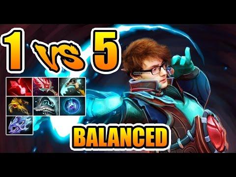 Miracle- Dota 2 - 1 vs 5 BALANCE ENOUGH