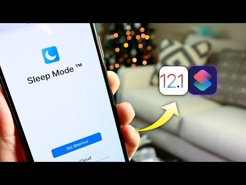 How to Enable SleepMode on iPhone iOS 12 Siri Shortcuts