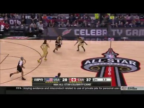 Milos Raonic Dunks at The 2016 NBA All-Star Celebrity Game in Toronto