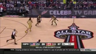 Milos Raonic's Dunk at The 2016 NBA All-Star Celebrity Game in Toronto