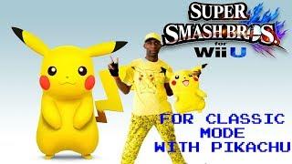 Super Smash Bros. For Wii-U With Pikachu. Shawne Plays.