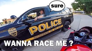 BIKER ASKING COPS TO RACE | COOL & ANGRY COPS |  [Episode 80]