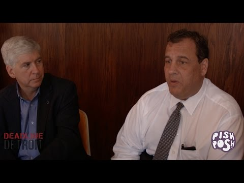 Governor Chris Christie and Governor Rick Snyder Campaign in Detroit