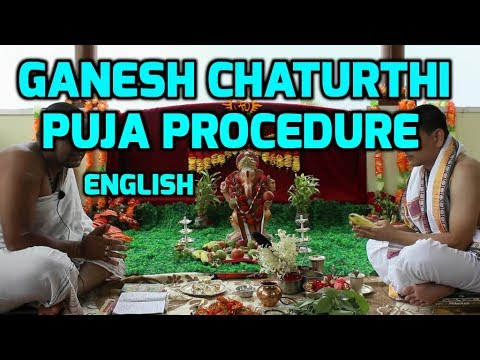 Ganesh Chaturthi Puja Procedure In English (ganesh Pooja) video