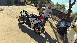 Ride on Honda CBR 1000 RR FireBlade, Moscow