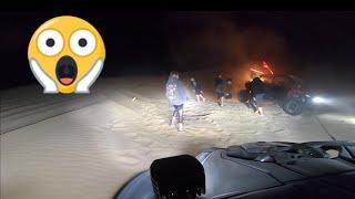 RZR CATCHES FIRE GLAMIS 2018