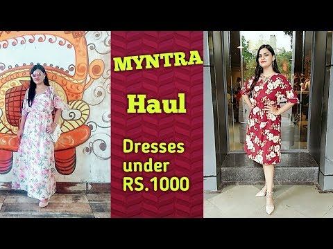 MYNTRA BLOCKBUSTER SALE | Dresses haul | Myntra sale haul | Dresses under budget | Tina