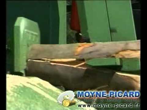 moyne picard combin comap avec scie ruban fendeuse horizontal sans tapis monte bois youtube. Black Bedroom Furniture Sets. Home Design Ideas