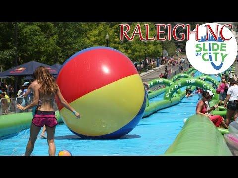 Slide the City! - Raleigh NC (1000ft Slip 'n' Slide!) (5/30/15)