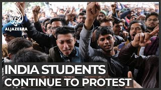 Indian students continue protests against citizenship law