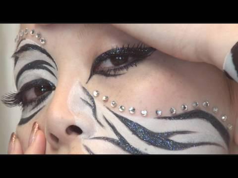 Zebra Halloween Makeup Tips Zebra Face Paint For Halloween