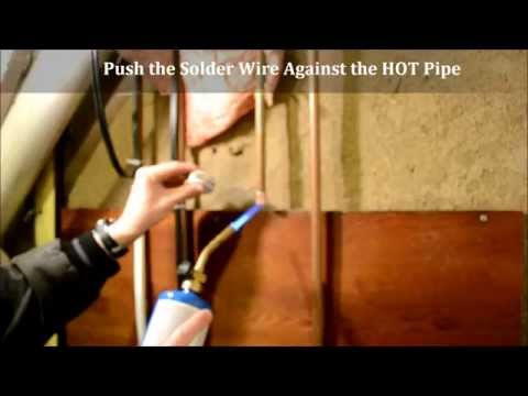 How To Cap A Copper Water Supply Pipe