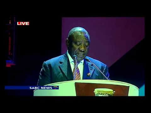 Cyril Ramaphosa at the 7th South African Aids conference