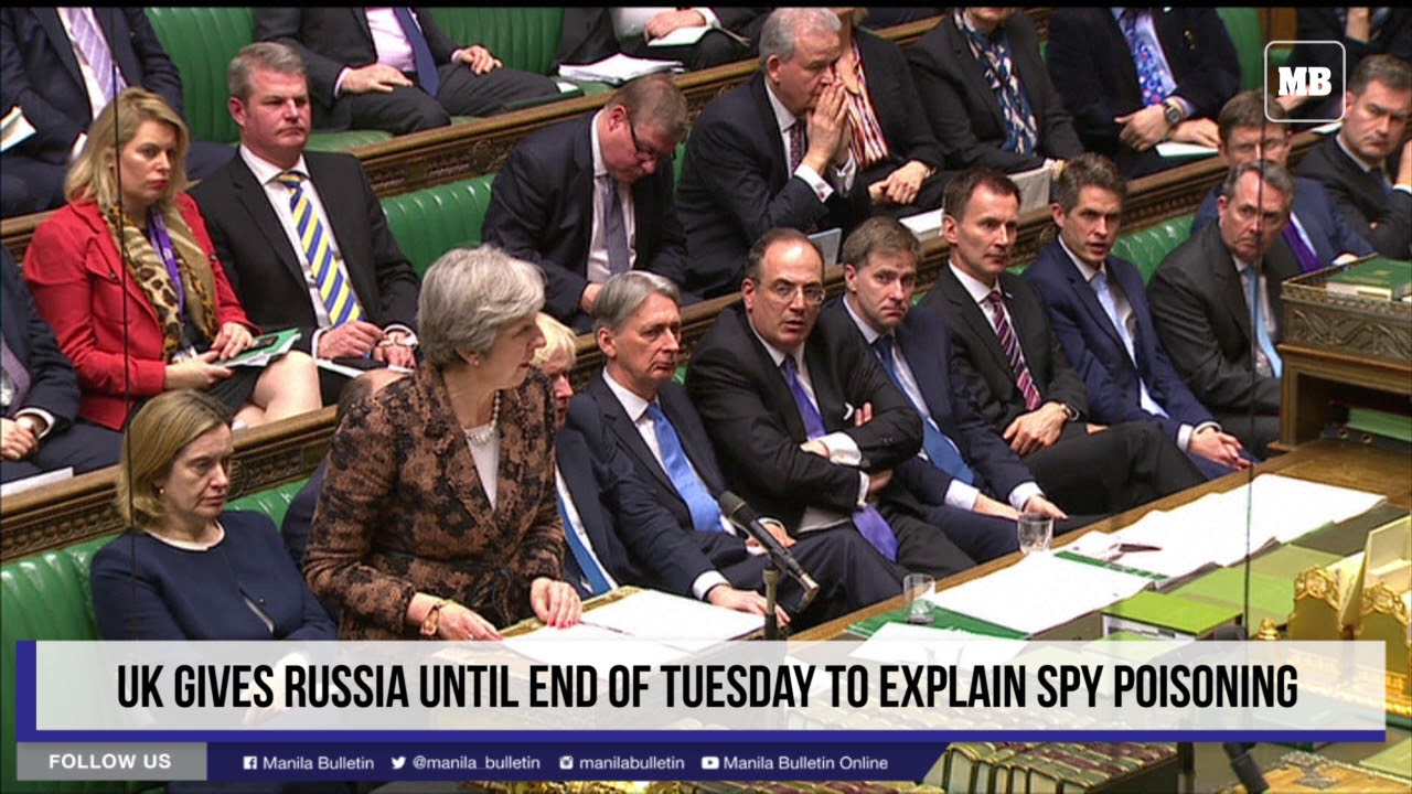 UK gives Russia until end of Tuesday to explain spy poisoning
