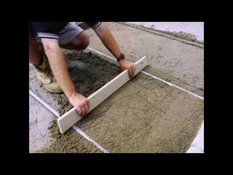 Укладка тротуарной плитки на стяжку своими руками