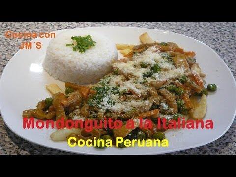 MONDONGUITO A LA ITALIANA - RECETAS - COCINA PERUANA