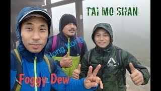 Hike through foggy dew,hong kong highest peak,near chinese border
