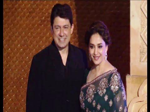 Madhuri Dixit at Manish Malhotra's niece Riddhi Malhotra's wedding reception.