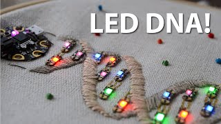 Embroidered LED DNA Helix!