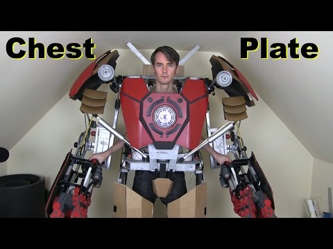 XRobots - Iron Man Hulkbuster Cosplay Part 17, Chest Plate and Unibeam Mounting