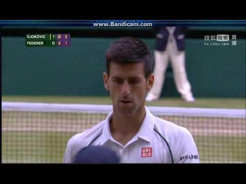 Wimbledon 2015 Gentlemens Single Final Federer vs Djokovic  Second set 66, then 32