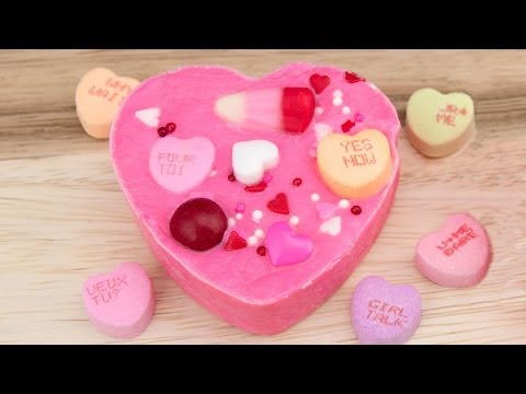 Heart Shaped Valentine Candy Chocolate Fudge Recipe from Cookies Cupcakes and Cardio