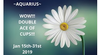 ~AQUARIUS~🌈WOW!!!DOUBLE ACE OF CUPS🌈Jan 15th-31st 2019