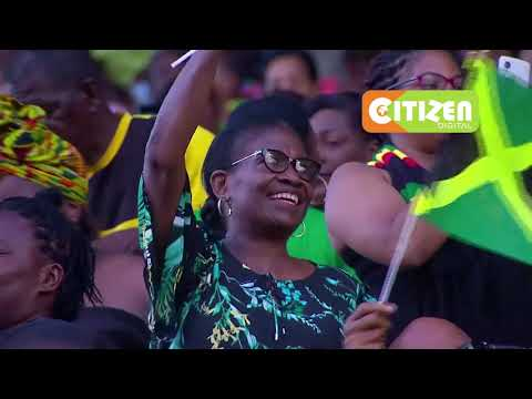 Rousing welcome for President Uhuru Kenyatta in Kingston, Jamaica