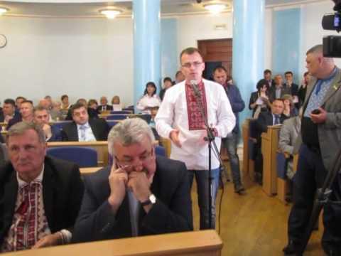 Свободівець Валерій Скрипченко у Вінницькій облраді щодо помилкового знищення поголів'я свиней у Мурованокуриловецькому районі