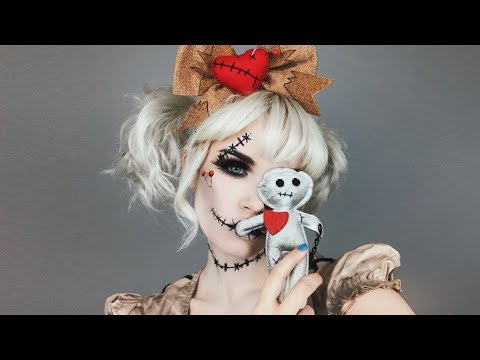 VOODOO DOLL HALLOWEEN MAKEUP TUTORIAL ft. Spirit Halloween!  atleeeey