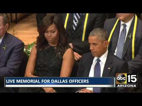 FULL EVENT: President Obama & George W. Bush speak at Memorial for Fallen Dallas Officers