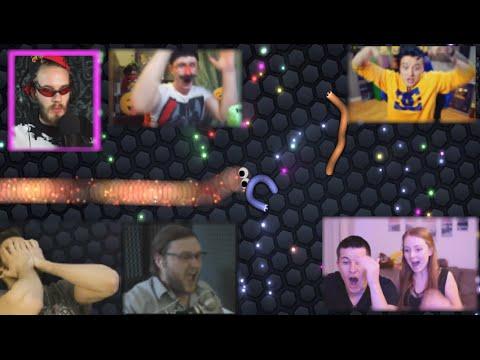 Реакции Летсплейщиков на Поражение в Slither.io