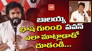 Pawan Kalyan  Controversial Comments on Nandamuri Balakrishna Over his Language