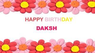 Daksh   Birthday Postcards & Postales - Happy Birthday