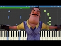 Hello Neighbor Song - Leave Me Alone - TryHardNinja - Piano Cover / Tutorial