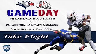#2 Lackawanna College Football vs #9 Georgia Military College