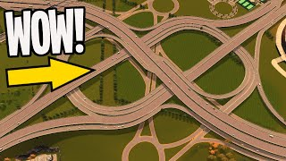 Double Dogbone Interchange for Olympic Sports Island in Cities Skylines #Teaville