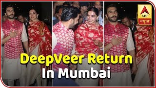 Ranveer Singh, Deepika Padukone Return Home As Man And Wife | ABP News