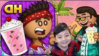 Papa's Freezeria Gameplay   Helado de Vainilla, Oreo y Chocolate con Papa Louie   Juegos para niños