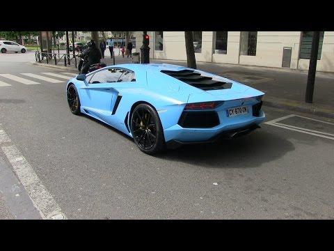 Baby Blue Lamborghini Aventador, Accelerations