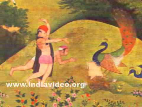 Krishna and friends in the forest of Vrindavan